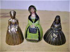 3 BRASS LADY BELLS