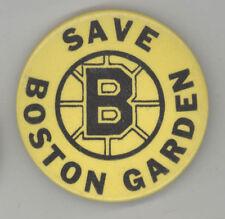 Rare SAVE BOSTON GARDEN Pin BUTTON Pinback BADGE Bruins CELTICS 1970s NHL NBA