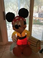 Disney Mickey Mouse 4 foot Pirate Lighted Airblown Inflatable Halloween RARE