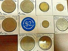 10 Gambling Tokens-Chips From Las Vegas And Other Casinos Free Shipping