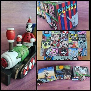 Hand painted Tim Burton Movie Collection Halloween Xmas Advent Train Wooden