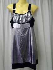 Womans Joy Collection Top, Size 10, Silver and Black, Polyester / Spandex