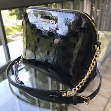 MIchael Kors Women Leather Crossbody Bag Handbag Shoulder Purse Messenger Black