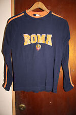 Associazione Sportiva Roma Italy Football Club Youth Blue Long Sleeve Shirt L