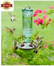 Amethyst Jewel Hummingbird Feeder Glass Bottle 5 Feeding Ports and 20-Ounce