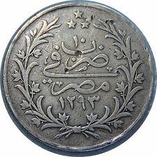 EGYPT 20 QIRSH AH1293(1884) BIG SILVER KM#296 #417