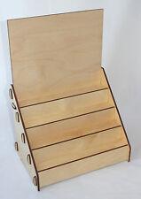 Espositore in legno da banco 4 gradini Miniature Modellini Verniciato Naturale