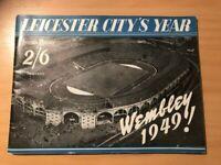 LEICESTER CITY'S YEAR WEMBLEY 1949! -  SOUVENIR BOOKLET - VGC