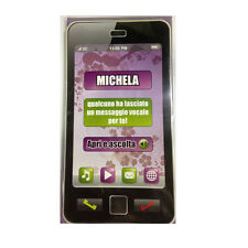 CUMPLEAÑOS tarjeta de musical en teléfono suena secretaría nome MICHELA