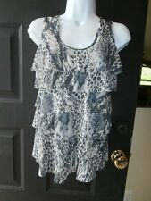 NWT NEW NORDSTROM SWEET PEA STACY FRATI TOP MEDIUM ANIMAL PRINT