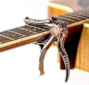 Guitar Trigger Bronze Crocodile Aluminum Alloy Acoustic Folk Guitar capo