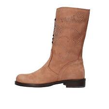 scarpe donna 1°CLASSE ALVIERO MARTINI 39 stivali marrone camoscio AF282-E