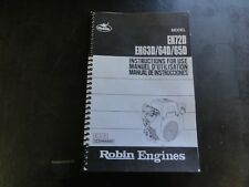 Robin Engines EH72D EH63D EH64D EH65D Instructions for Use Manual