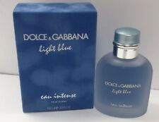 Dolce Gabbana Light Blue Eau Intense For Men EDP Parfum Spray 3.4oz New Seal Box