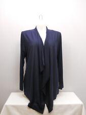 Womens Wrap Swing Cardigan SIZE 2XL ANGELA Navy Blue Embellished Mesh Back