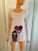 Marc By Marc Jacobs Beige Corn Silk 100% Cotton Long Sleeves T-shirt Small NWOT