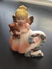 Vintage Josef Originals Birthday Angel Girl Figurine 2 year old