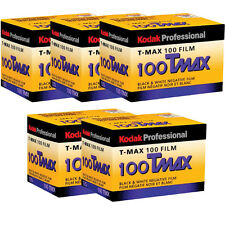 5 Rolls Kodak TMX 135-24 T-Max 100 Black & White Negative (Prints) 35mm Film