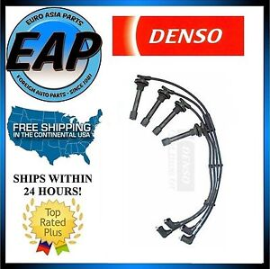 For 1990-1997 Honda Accord 2.2L 4cyl DENSO Ignition Spark Plug Wire Set NEW