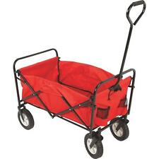 Folding Fold-able Lawn Garden Wagon Farm Cart Wheelbarrow Utility Trailer