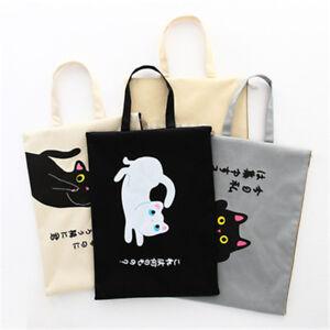 Creative Cat File Bag kawaii cartoon kitty document holder cute school pouch bag