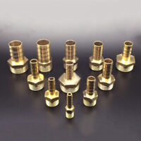 """Brass Fittings 1/2"""" Hose Barb X 1/4"""" NPT Male Pipe Threads 6~12mm Coupler"""