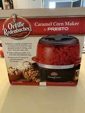 Brand New Orville Redenbacher's Caramel Corn Maker Presto Black 04851 Free Ship!