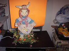 1992 Telco Animated Easter Rabbit Girl Bunny Original Box Motion-ette-w/Props