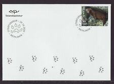 Iceland 2020 Fdc - Norden Stamp 2020 – Mammals - Mink - with 1 stamp