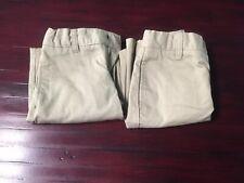 Lot Of 2 French Toast Boys Uniform Shorts Khaki Size 6 Adjustable Waist