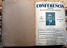 Conférencia. journal de l'université des annales. année 1928-1929