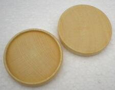 25 x Untersetzer Holzuntersetzer D=65 mm Buche natur Deckel Sockel Rad