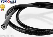 "AN -3 ( 1/8"" I.D) Stainless Braided BLACK PVC Coated Teflon Brake Hose 1m"