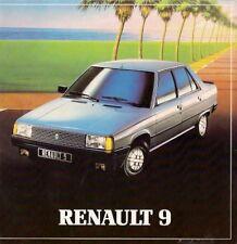 Renault 9 1982 uk market dépliant brochure tse gts tle automatique gtl tl ct c