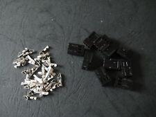 10pcs 3 Pin Cooling Fan Connector Plug Black Jack PCB 2.54mm pitch spacing 2510