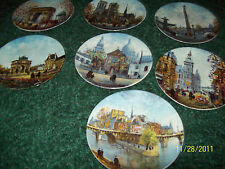 Set of 7 Collector Plates Arc Notre Dame Concorde Sacre Coeur Etc Limoges