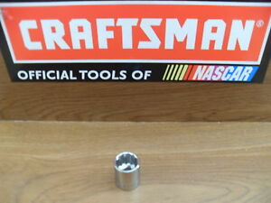 "NEW CRAFTSMAN 3/8"" 12 PT POINT SAE OR METRIC SHALLOW SOCKET TOOLS  CHOOSE SIZE"