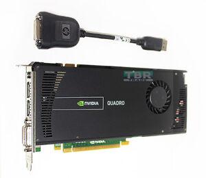 HP NVIDIA Quadro 4000 2GB PCIe 2.0 x16 GDDR5 Video Graphics Card