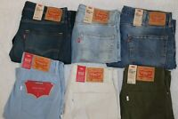 NWT Levi's 502 Regular Tapered Fit Stretch Jeans Blue stone, Rosefinch, Tanager