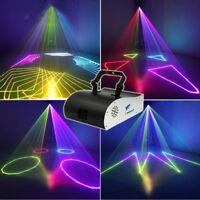 1W RGB DMX Full Color ILDA Animation Laser Light Xmas Party Show 1 Watt 1000mW