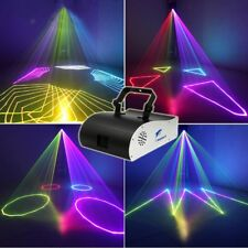 1W RGB DMX Full Color ILDA Animation Laser Light Xmas Party Show 1 Watt 1000mW