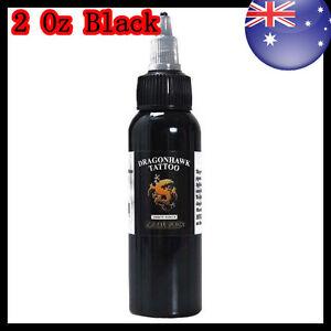 Dragon Hawk  Tribal Black Tattoo Ink 60ml OZ stock