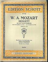 Mozart ~ MENUETT aus der Es Dur Symphonie ~ alt, übergroß