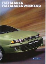 Fiat Marea Saloon & Weekend SX ELX HLX 2001-2002 Original UK Sales Brochure