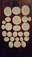 25 Grand Tour Cameos Intaglios Gems Seals Medallions Plaster Colosseum European