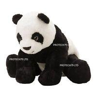 IKEA KRAMIG SOFT TOY WHITE BLACK PLUSH CUDDLY PANDA CHILD KIDS L:30cm