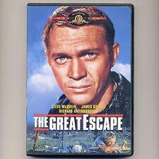 Great Escape 1963 WWII movie, mint DVD Steve McQueen, J Garner, Bronson, Coburn