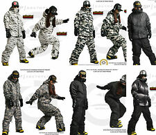 South Play Mens Waterproof Ski-Snowboard Militarylook Jacket + Pants SET