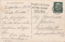 """DR, AK mit Maschinenstpl. Rüdesheim """"Vergiß nicht Straße und Hausnummer..."""""""