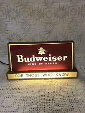 vintage Budweiser lighted advertising sign